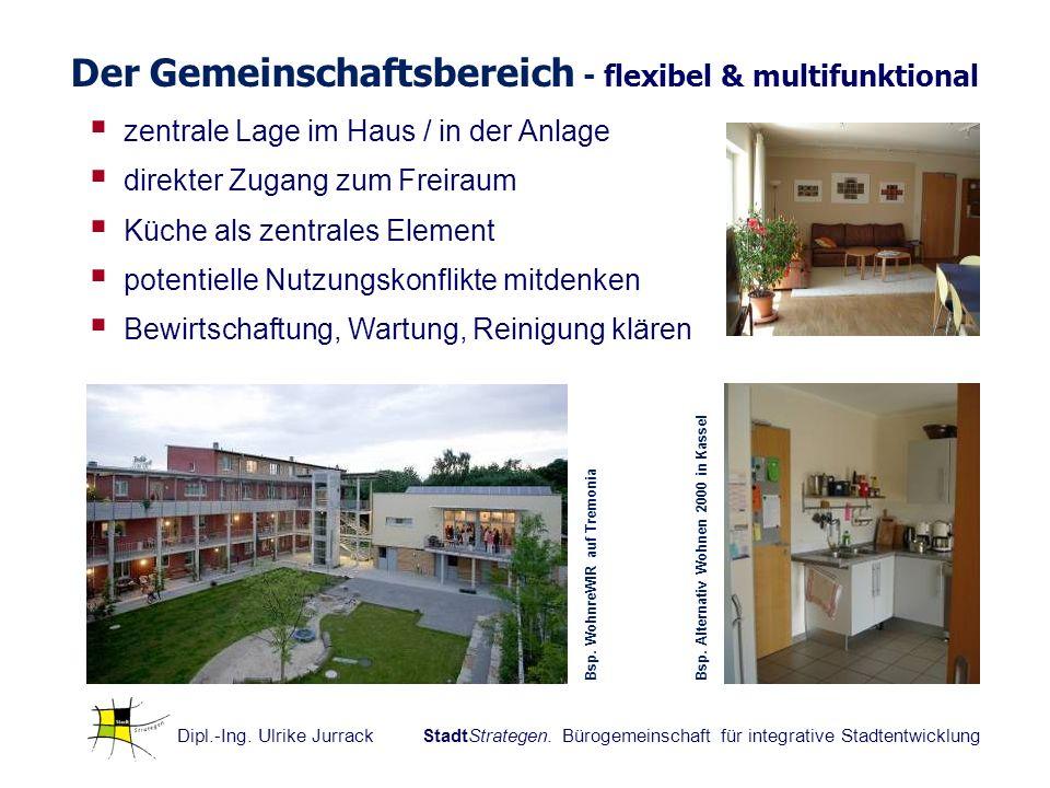 Dipl.-Ing. Ulrike Jurrack StadtStrategen. Bürogemeinschaft für integrative Stadtentwicklung Der Gemeinschaftsbereich - flexibel & multifunktional zent
