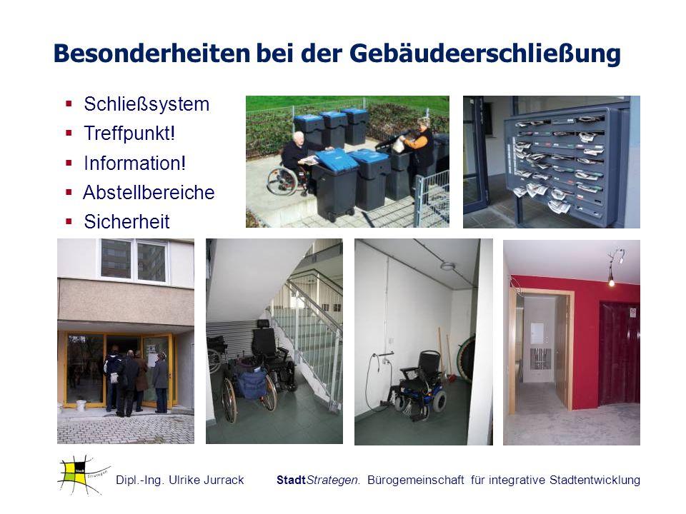 Dipl.-Ing. Ulrike Jurrack StadtStrategen. Bürogemeinschaft für integrative Stadtentwicklung Schließsystem Treffpunkt! Information! Abstellbereiche Sic