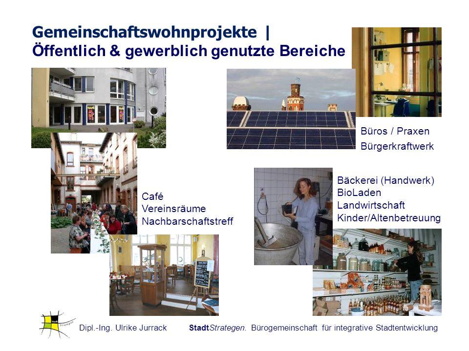 Dipl.-Ing. Ulrike Jurrack StadtStrategen. Bürogemeinschaft für integrative Stadtentwicklung Gemeinschaftswohnprojekte | Öffentlich & gewerblich genutz