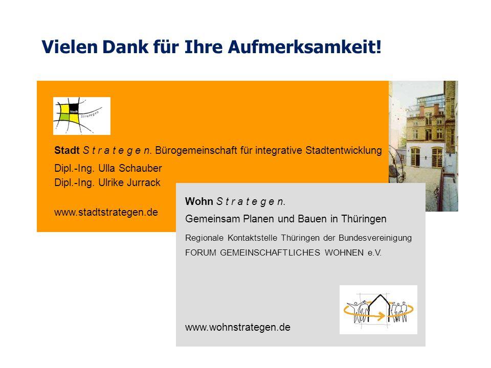 Wohn S t r a t e g e n. Gemeinsam Planen und Bauen in Thüringen Regionale Kontaktstelle Thüringen der Bundesvereinigung FORUM GEMEINSCHAFTLICHES WOHNE