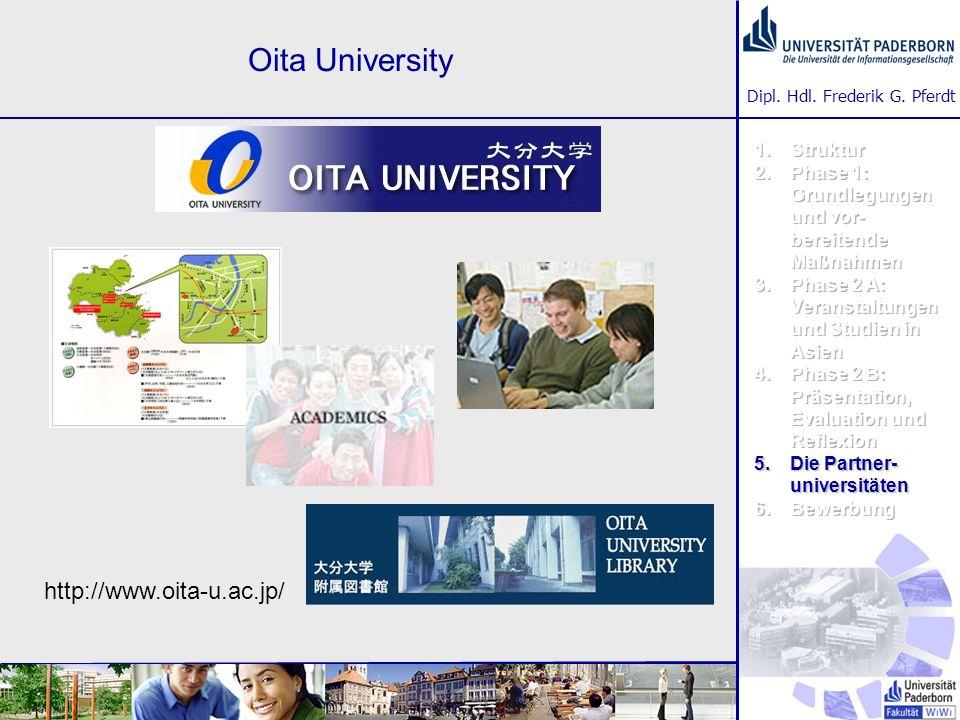 Dipl. Hdl. Frederik G. Pferdt Oita University http://www.oita-u.ac.jp/