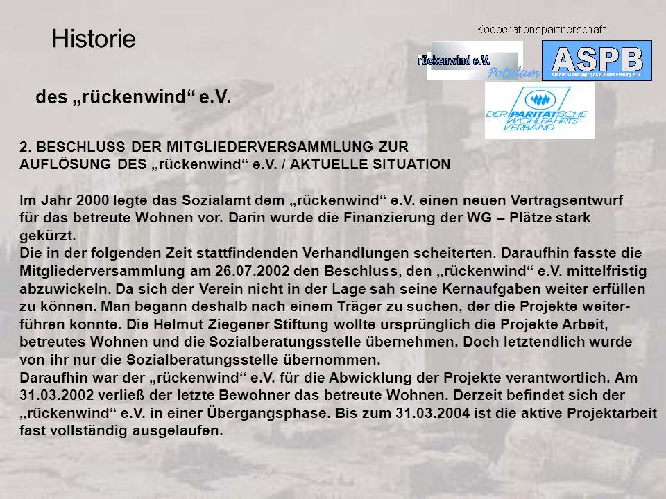 Historie des rückenwind e.V.2.