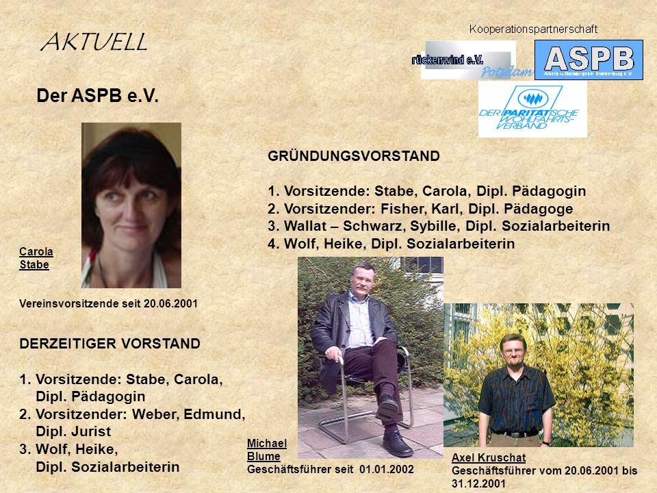 DERZEITIGER VORSTAND 1.Vorsitzende: Stabe, Carola, Dipl.