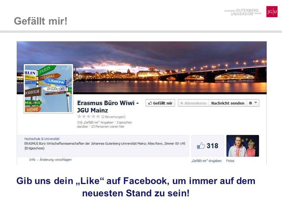 Gefällt mir! Gib uns dein Like auf Facebook, um immer auf dem neuesten Stand zu sein!