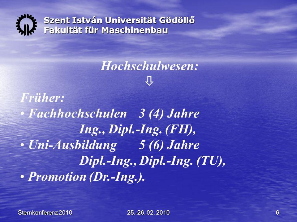 Sternkonferenz 201025.-26. 02.