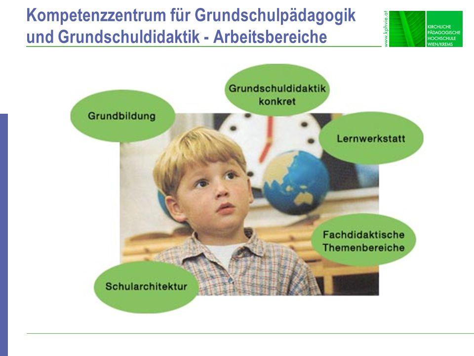 Kompetenzzentrum für Grundschulpädagogik und Grundschuldidaktik - Arbeitsbereiche