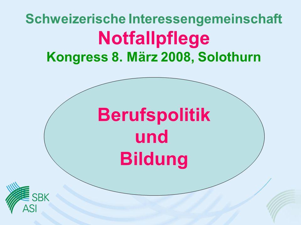 Schweizerische Interessengemeinschaft Notfallpflege Kongress 8.