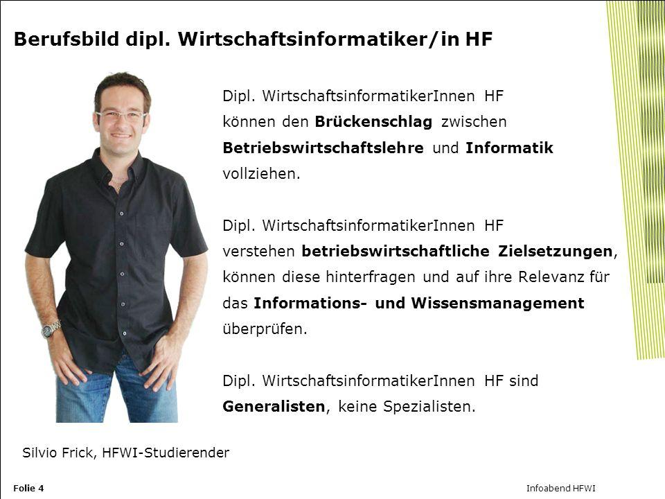 Folie 4Infoabend HFWI Berufsbild dipl.Wirtschaftsinformatiker/in HF Dipl.