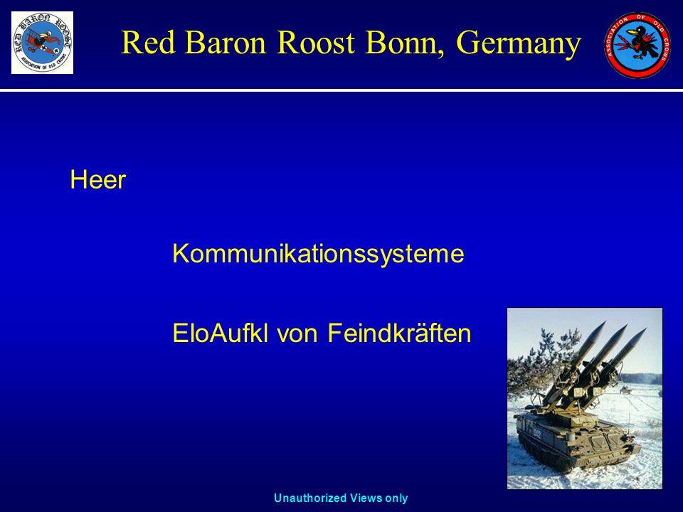 Unauthorized Views only Red Baron Roost Bonn, Germany Heer Kommunikationssysteme EloAufkl von Feindkräften
