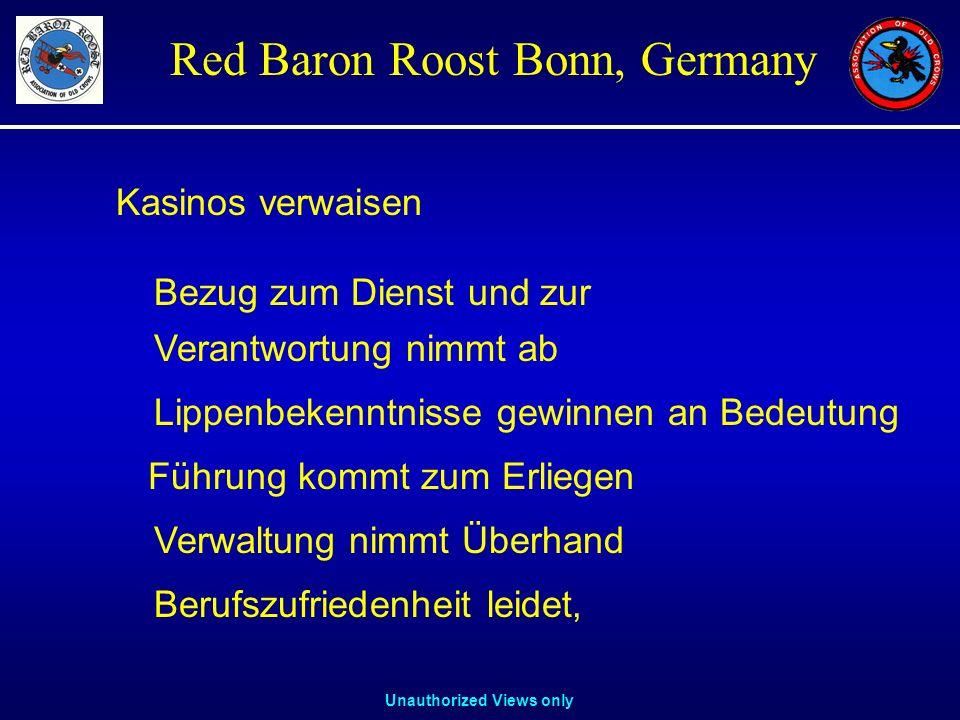 Unauthorized Views only Red Baron Roost Bonn, Germany Verantwortung nimmt ab Lippenbekenntnisse gewinnen an Bedeutung Führung kommt zum Erliegen Verwa