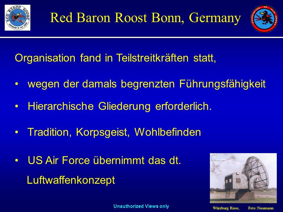 Unauthorized Views only Red Baron Roost Bonn, Germany Organisation fand in Teilstreitkräften statt, wegen der damals begrenzten Führungsfähigkeit Hier