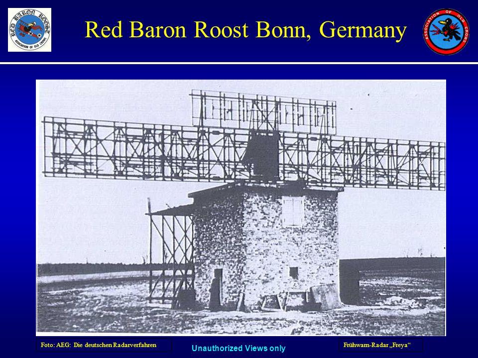 Unauthorized Views only Red Baron Roost Bonn, Germany Frühwarn-Radar FreyaFoto: AEG: Die deutschen Radarverfahren