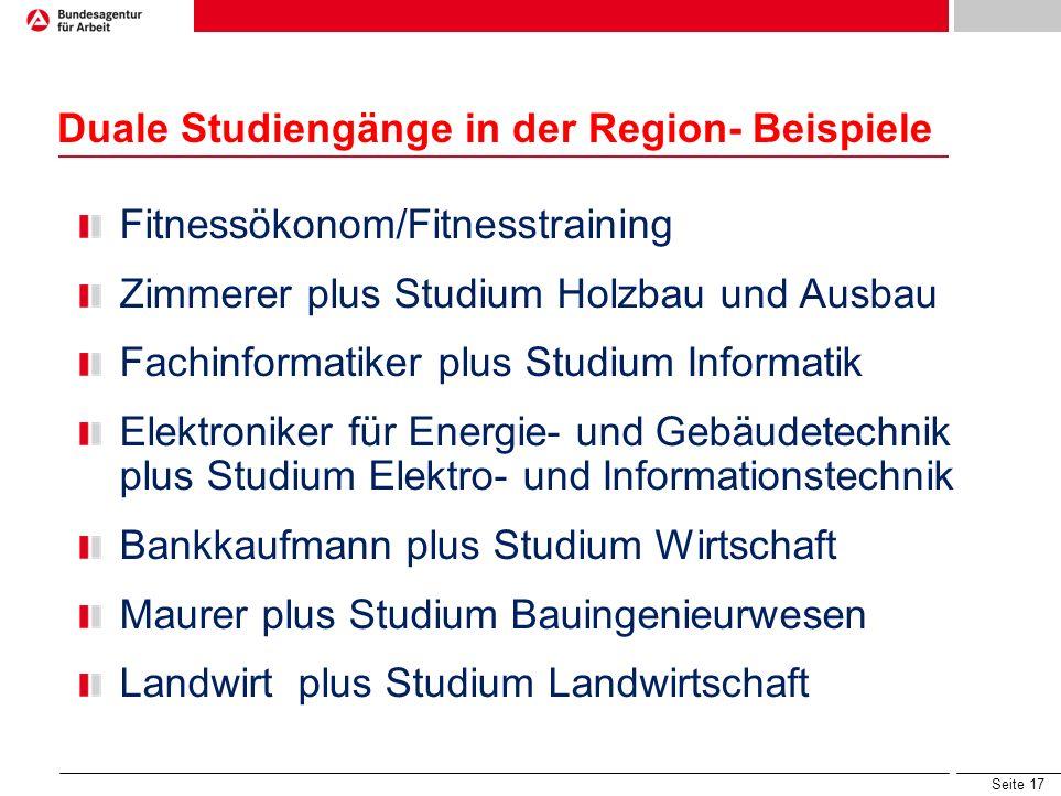 Seite 16 Duales Studium Verbundstudium Studium plus Ausbildung www.hochschule-dual.dewww.hochschule-dual.de Studium mit vertiefter Praxis Studium plus