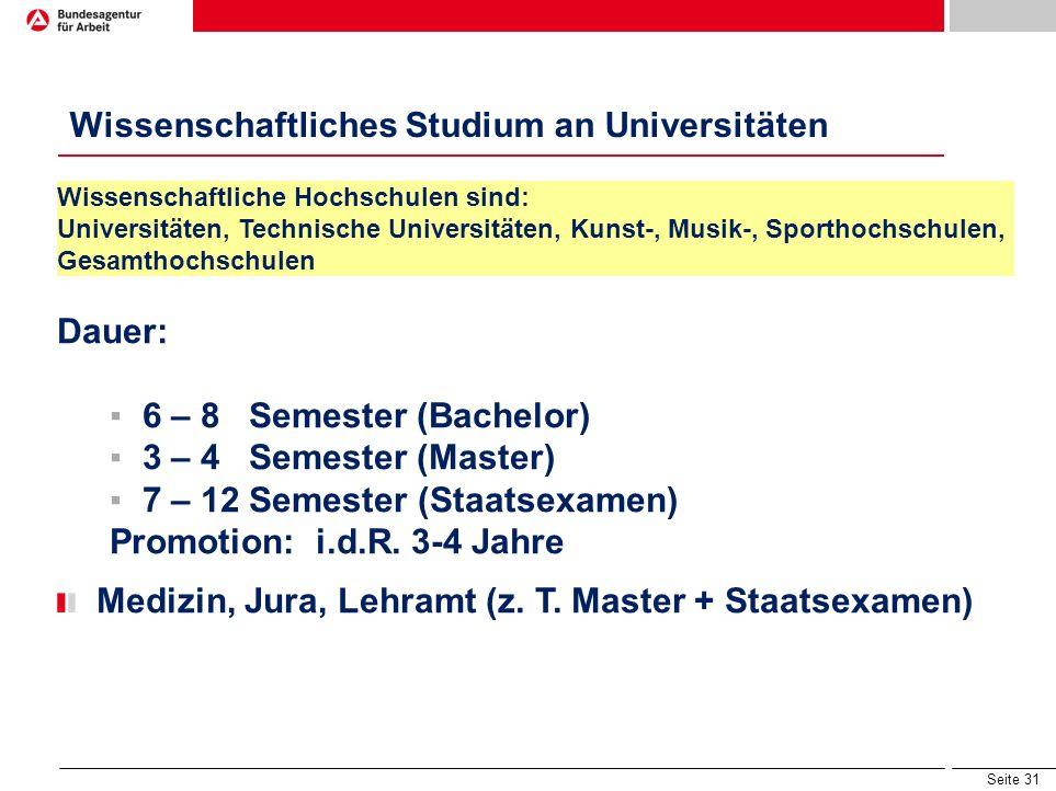 Seite 30 Studienmöglichkeiten nach der 13. Klasse ohne 2. Fremdsprache FOS/BOS Sozial an Unis in Bayern z.B. Biologie Biochemie Molekulare Medizin Päd