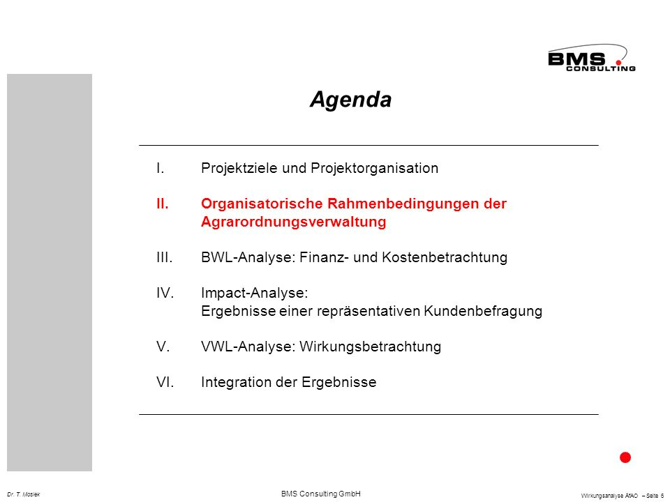 BMS Consulting GmbH Wirkungsanalyse ÄfAO – Seite 6 Dr.