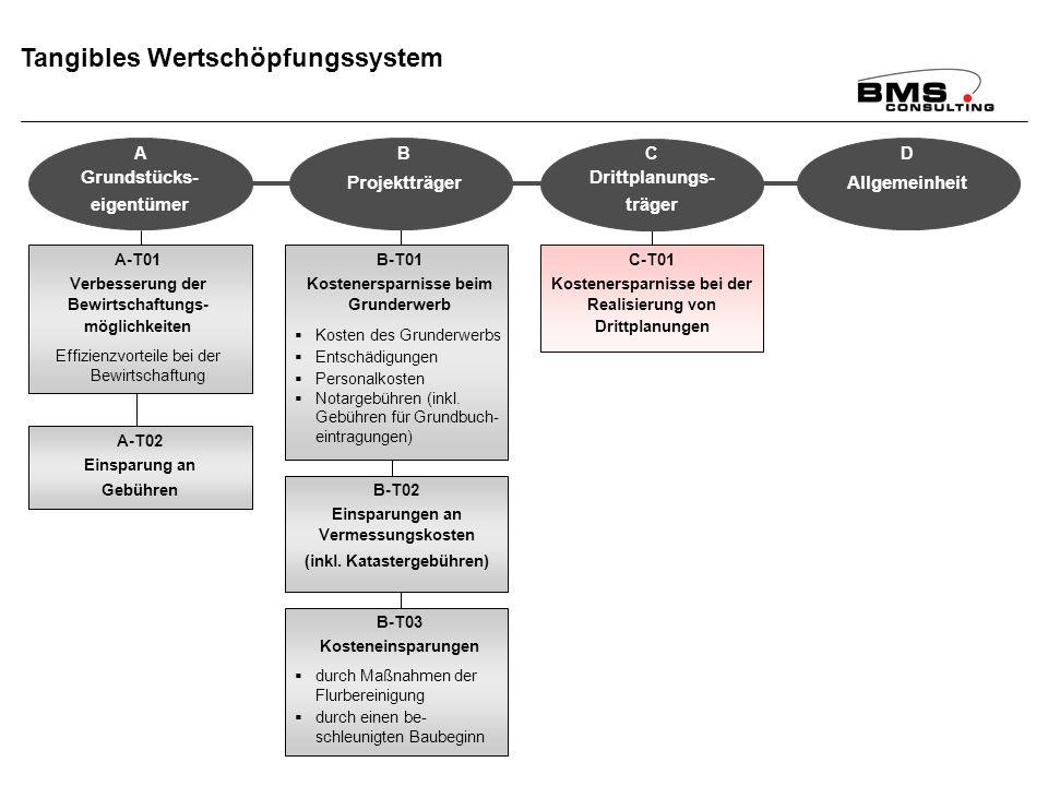 BMS Consulting GmbH Wirkungsanalyse ÄfAO – Seite 85 Dr. T. Mosiek Tangibles Wertschöpfungssystem A-T01 Verbesserung der Bewirtschaftungs- möglichkeite