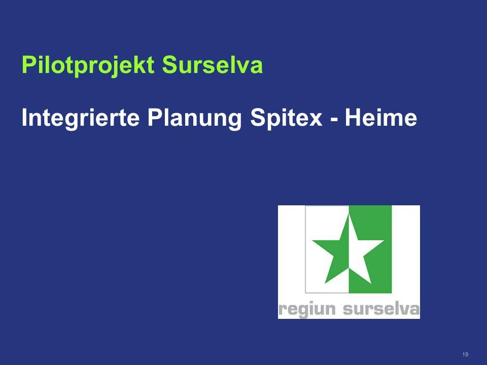 19 Pilotprojekt Surselva Integrierte Planung Spitex - Heime