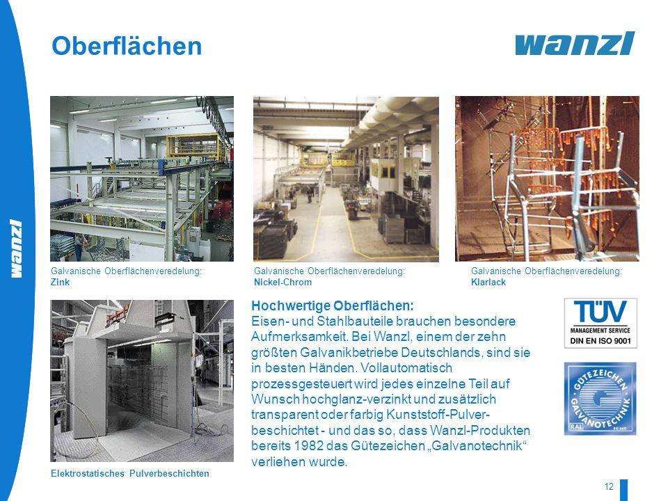 HR-Development by Wanzl 07/2008 12 Hochwertige Oberflächen: Eisen- und Stahlbauteile brauchen besondere Aufmerksamkeit. Bei Wanzl, einem der zehn größ