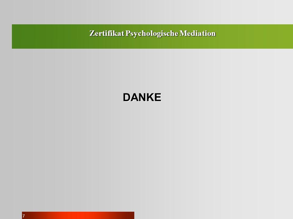 7 DANKE Zertifikat Psychologische Mediation