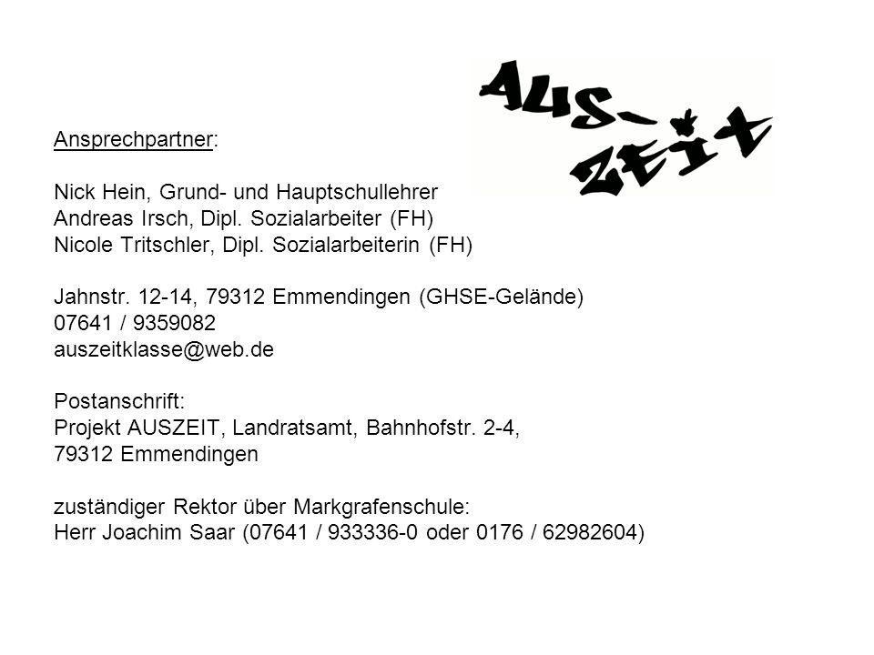 Ansprechpartner: Nick Hein, Grund- und Hauptschullehrer Andreas Irsch, Dipl. Sozialarbeiter (FH) Nicole Tritschler, Dipl. Sozialarbeiterin (FH) Jahnst