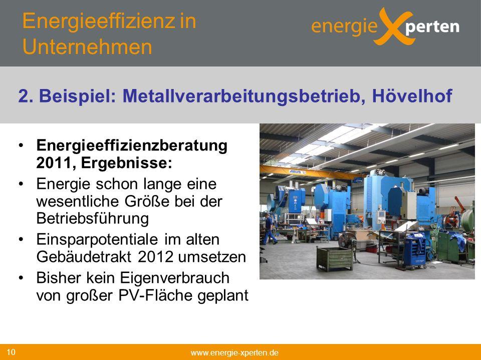Energieeffizienz in Unternehmen Energieeffizienzberatung 2011, Ergebnisse: Energie schon lange eine wesentliche Größe bei der Betriebsführung Einsparp