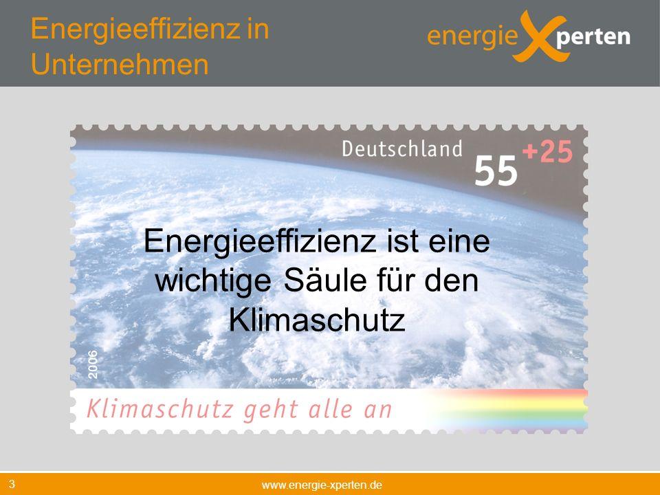 Energieeffizienz in Unternehmen www.energie-xperten.de 3 Energieeffizienz ist eine wichtige Säule für den Klimaschutz