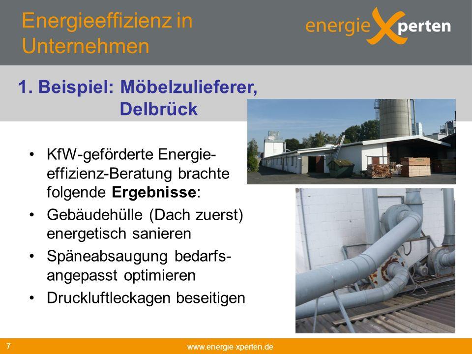 Energieeffizienz in Unternehmen KfW-geförderte Energie- effizienz-Beratung brachte folgende Ergebnisse: Gebäudehülle (Dach zuerst) energetisch saniere