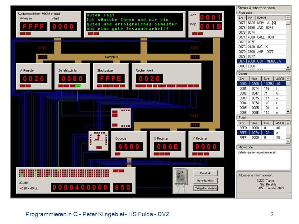 Programmieren in C - Peter Klingebiel - HS Fulda - DVZ23Programmieren in C - Peter Klingebiel - HS Fulda - DVZ23 Kaffee kochen 1