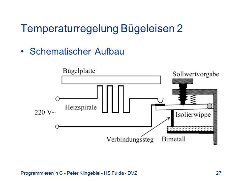 Programmieren in C - Peter Klingebiel - HS Fulda - DVZ27Programmieren in C - Peter Klingebiel - HS Fulda - DVZ27 Temperaturregelung Bügeleisen 2 Schem