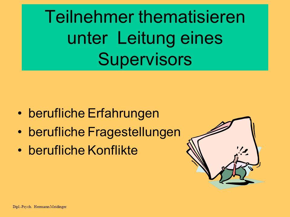 Reflektiert in berufsbezogenen Zusammenhängen Schulische Arbeitsbedingungen persönliche Rahmenbedingungen Dipl.-Psych. Hermann Meidinger