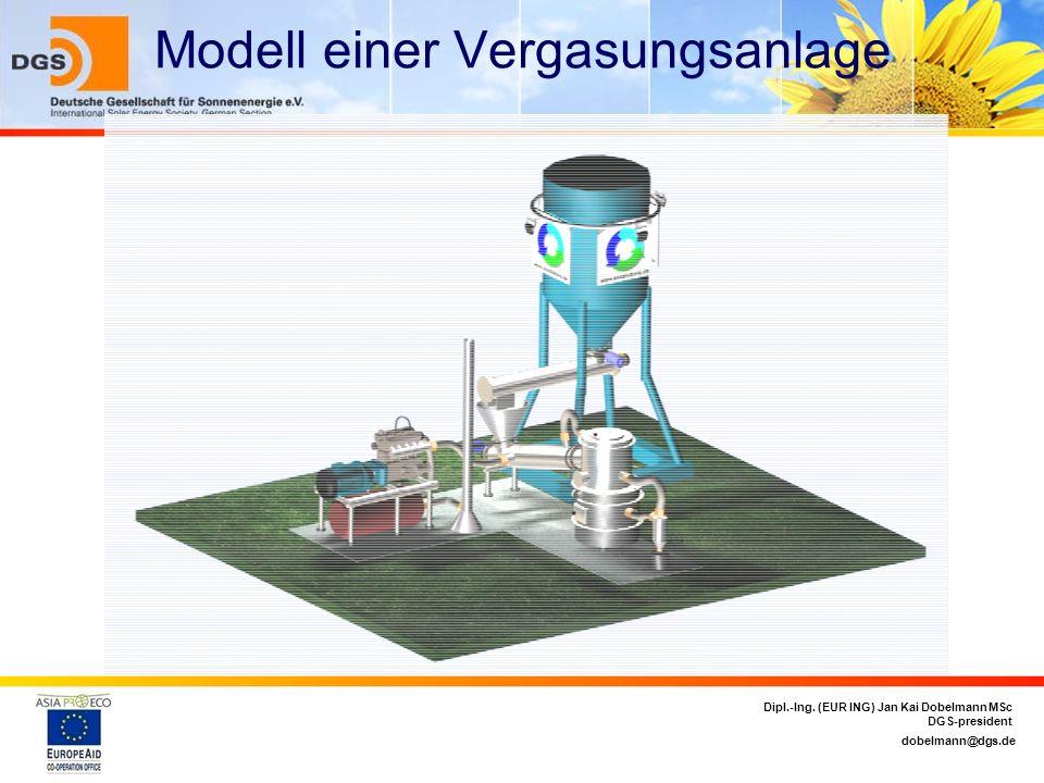 dobelmann@dgs.de Dipl.-Ing. (EUR ING) Jan Kai Dobelmann MSc DGS-president Modell einer Vergasungsanlage