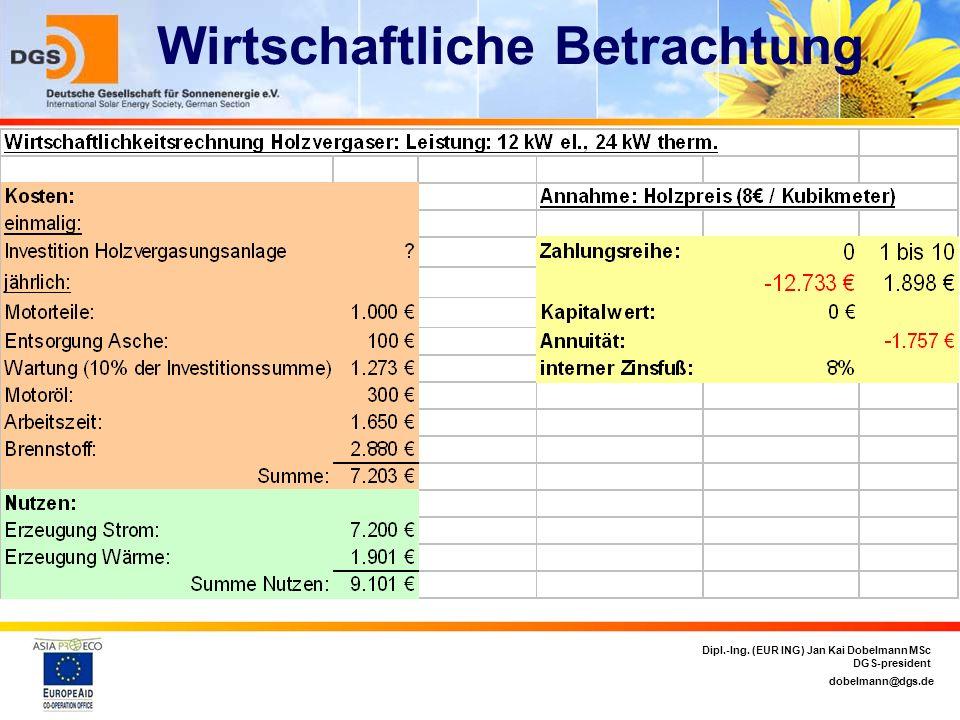 dobelmann@dgs.de Dipl.-Ing. (EUR ING) Jan Kai Dobelmann MSc DGS-president Wirtschaftliche Betrachtung