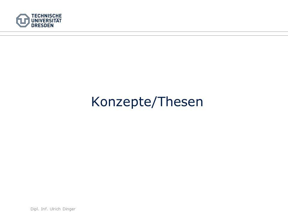 Dipl. Inf. Ulrich Dinger /30 12 Konzepte/Thesen