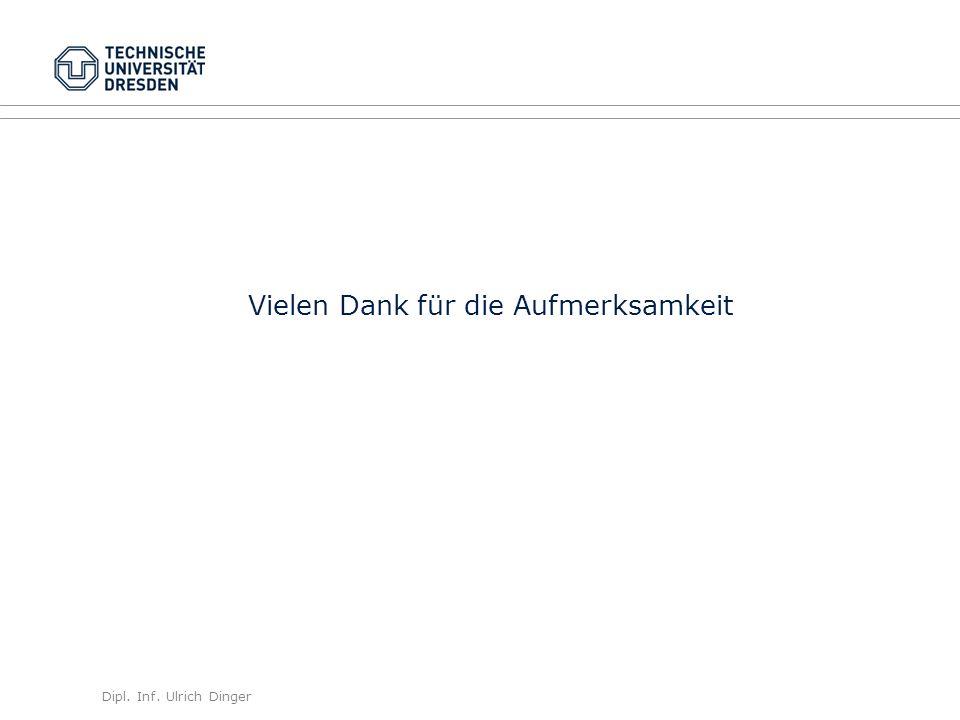 Dipl. Inf. Ulrich Dinger /30 31 Vielen Dank für die Aufmerksamkeit