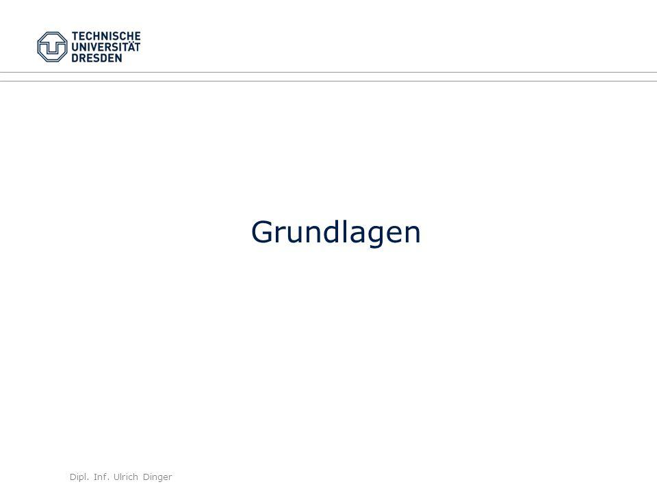 Dipl. Inf. Ulrich Dinger /30 7 Grundlagen