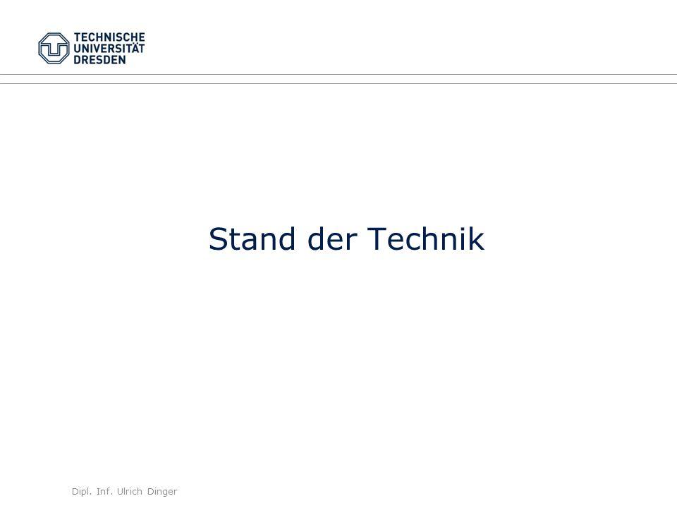 Dipl. Inf. Ulrich Dinger /30 9 Stand der Technik