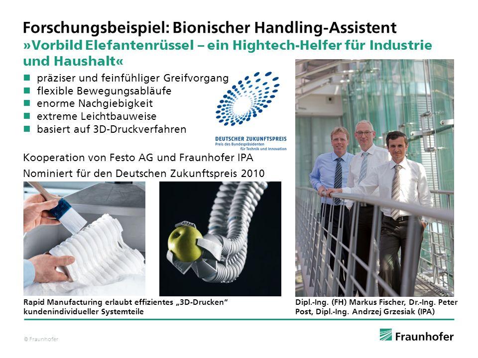 © Fraunhofer »Vorbild Elefantenrüssel – ein Hightech-Helfer für Industrie und Haushalt« Dipl.-Ing. (FH) Markus Fischer, Dr.-Ing. Peter Post, Dipl.-Ing