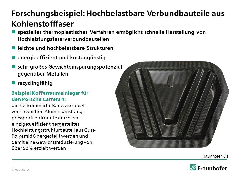 © Fraunhofer spezielles thermoplastisches Verfahren ermöglicht schnelle Herstellung von Hochleistungsfaserverbundbauteilen leichte und hochbelastbare