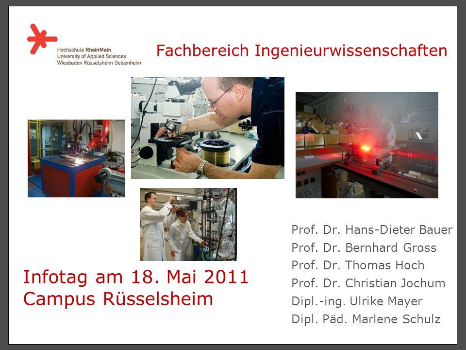Prof.Dr. Hans-Dieter Bauer Prof. Dr. Bernhard Gross Prof.