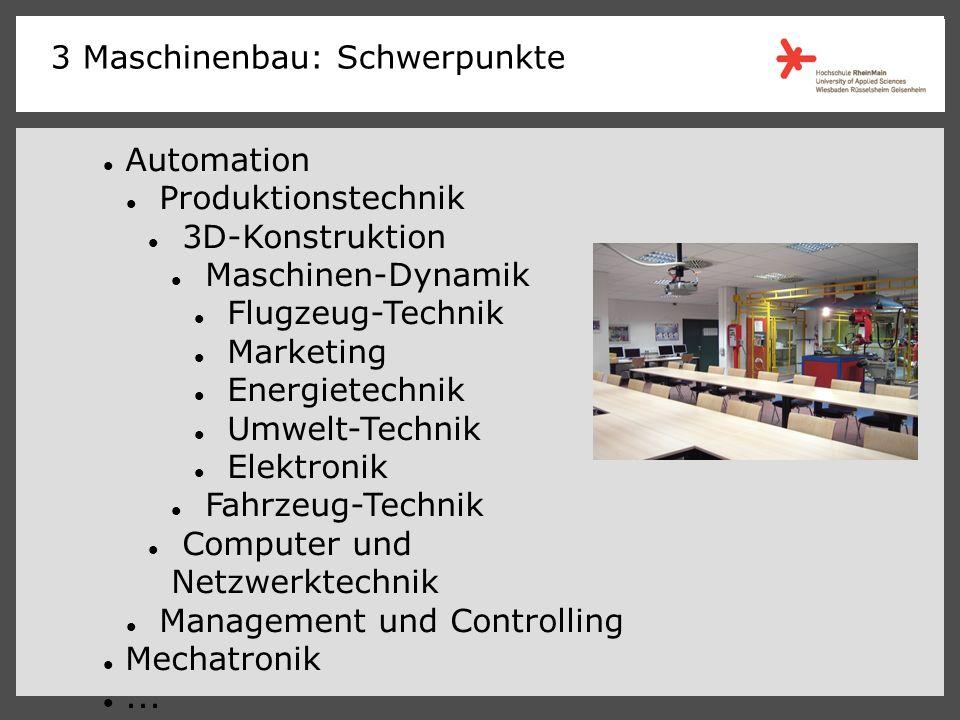 Automation Produktionstechnik 3D-Konstruktion Maschinen-Dynamik Flugzeug-Technik Marketing Energietechnik Umwelt-Technik Elektronik Fahrzeug-Technik Computer und Netzwerktechnik Management und Controlling Mechatronik...