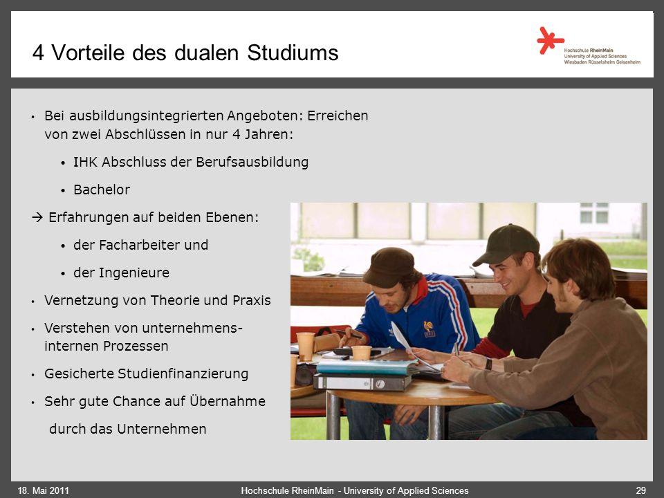 4 Duales Studium KIS Studium an der Hochschule Berufsausbildung / Praktische Tätigkeit im Unternehmen Je nach Semester: 2 – 3 Tage / Woche inkl.