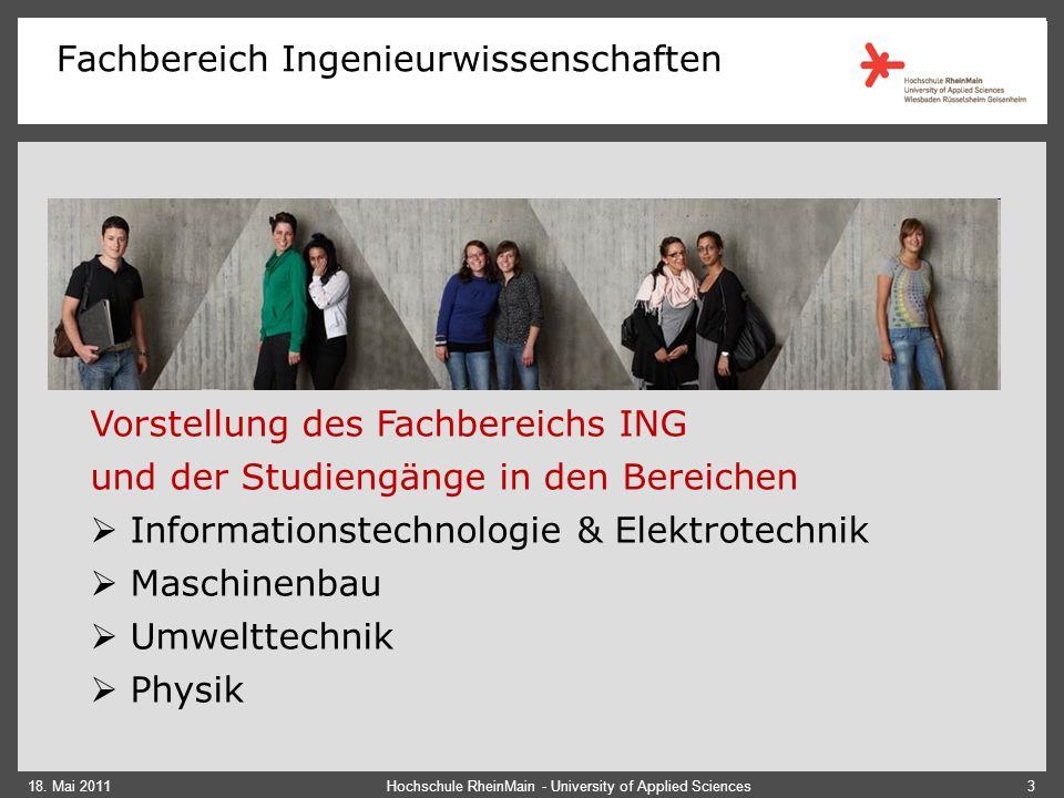 Fachbereich Ingenieurwissenschaften 18.