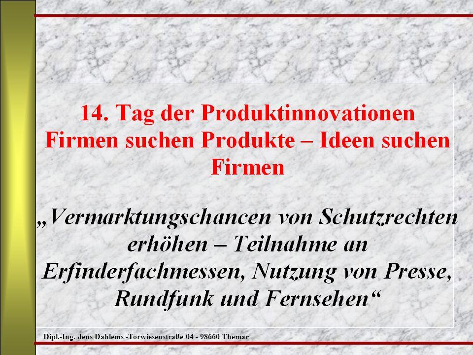 Dipl.-Ing. Jens Dahlems -Torwiesenstraße 04 - 98660 Themar