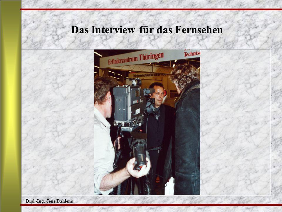 Das Interview für das Fernsehen