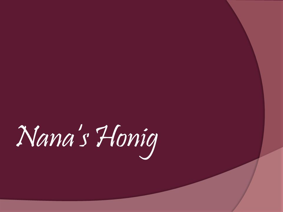 Nanas Honig