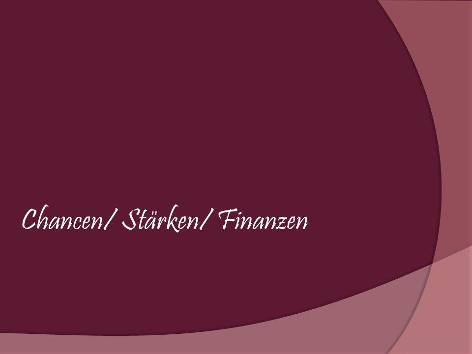 Chancen/ Stärken/ Finanzen