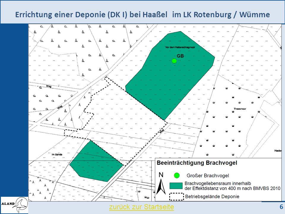 Errichtung einer Deponie (DK I) bei Haaßel im LK Rotenburg / Wümme 6 zurück zur Startseite
