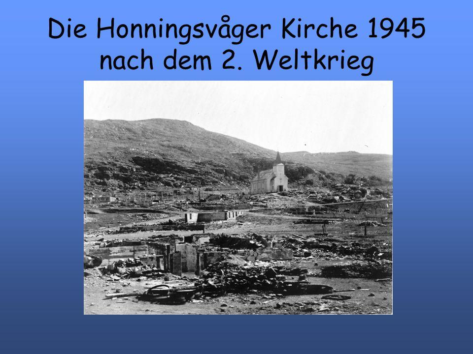 Die Honningsvåger Kirche 1945 nach dem 2. Weltkrieg