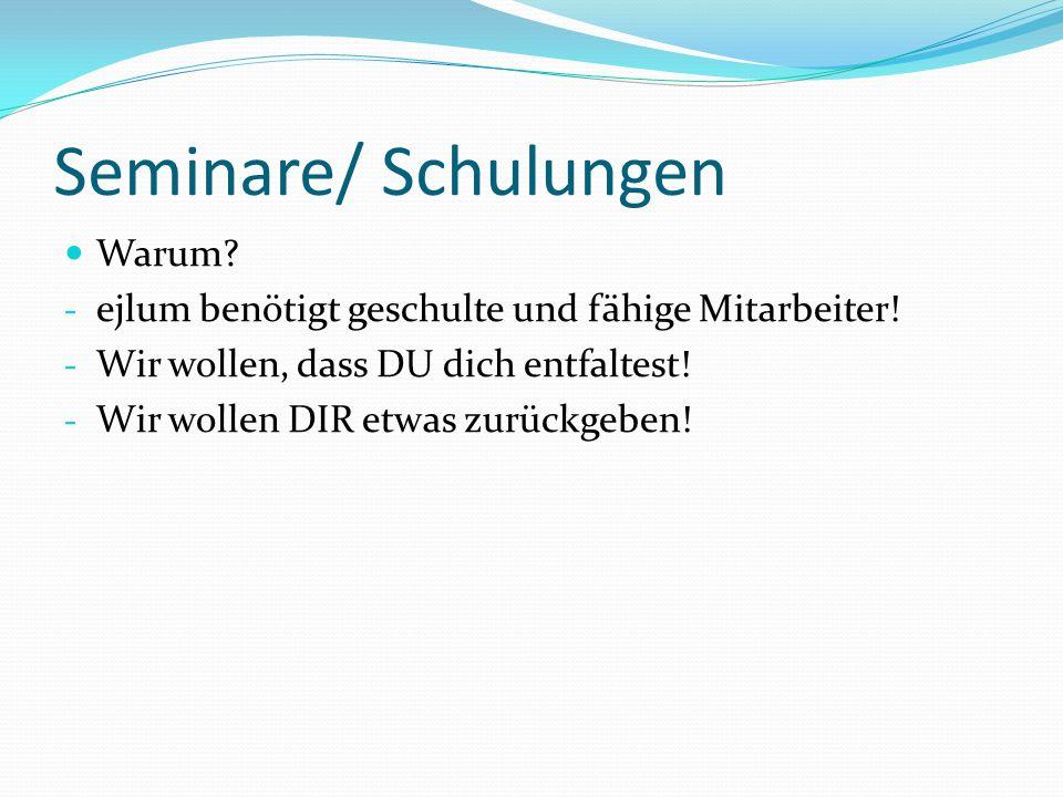 Schulungen/ Seminare Wie.