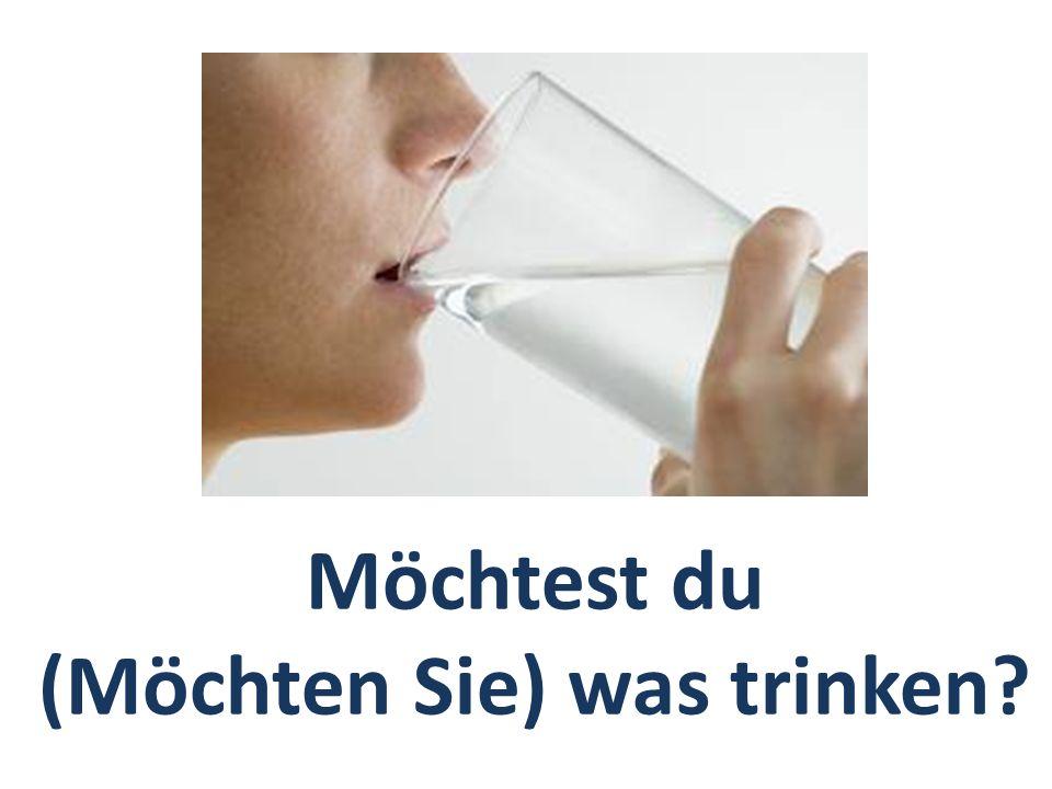 Möchtest du (Möchten Sie) was trinken?